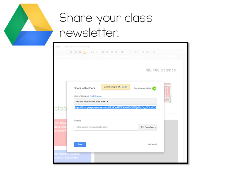 Ways To Engage Parents Using Google Drive Teaching Learning - How to make a newsletter in google docs
